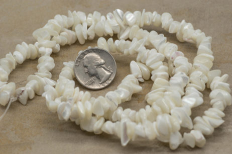 Natural Shell Beads,  34 Inch Strand, 10-12mm,  Shell Chips -B766