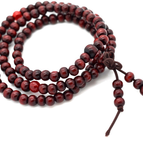 Wood Beads, 6mm, 108 Beads, Buddhist Prayer Beads, Small Wood Beads -B598