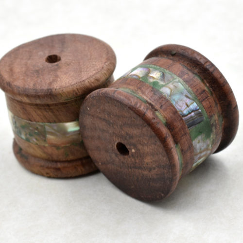 Wood  Focal Beads,  2pcs, 20 x 25mm, 3mm   Hole,   Focal Beads, Large Wooden Beads -B568
