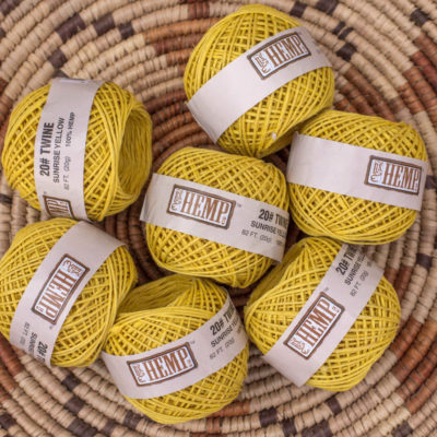 hemp twine, sunrise yellow