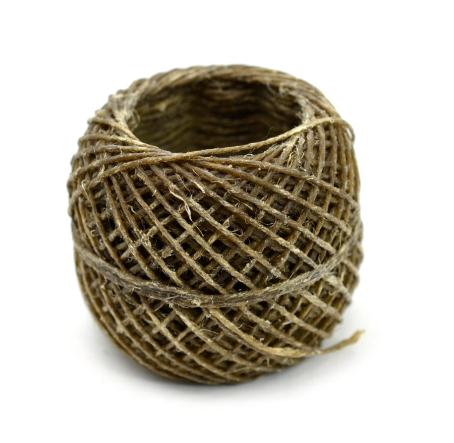 Beeswax Hemp Twine, 1mm, 20lb Hemp, Waxed Cord, 100 Feet    -T82