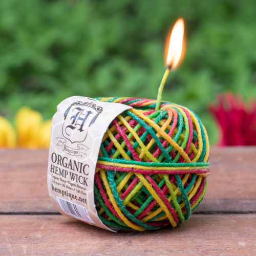 Beeswax Hemp Twine, Rasta, 1.8mm, 48lb, Waxed Twine, Organic Hemp Twine  100 Feet Ball -T84