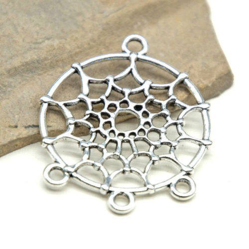 Dreamcatcher  Charms, 10pcs, 26mm, Jewelry Connector, Pendant