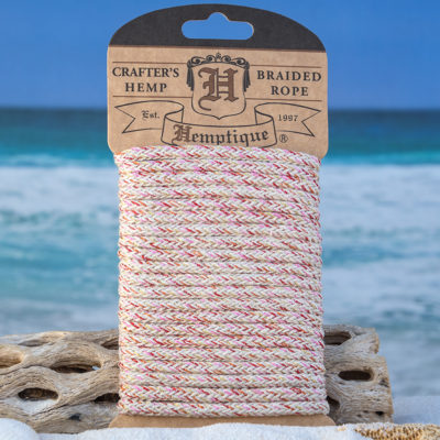 glitter craft rope, 4mm hemp cord