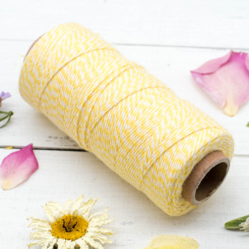 Bakers Twine,  136 Yards, 2ply, 410 feet, Bakers Twine,  Yellow String