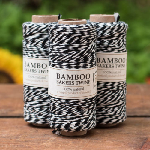 Black Bamboo Bakers Twine,   Black Twine, Party Twine,   Bamboo Cord -T62