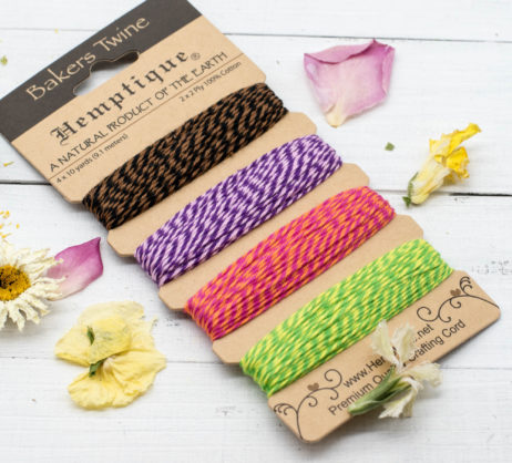 Cotton Bakers Twine, 120 Feet,  Fiesta Card Set,  Colored Bakers Twine, Gift Wrapping, Card Making - BT4