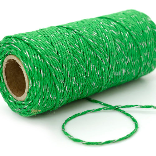 Green  Bakers Twine, Hemp  Twine, 1mm,  205 feet spool, Twine,  green Hemp twine -T63