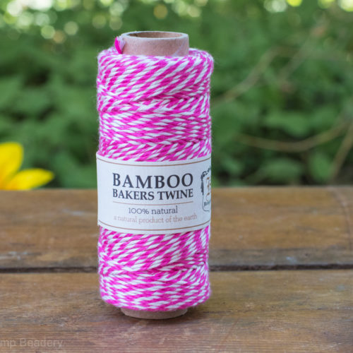 Pink Bakers Twine, Bamboo Cord, Neon Cord, Pink String, Scrapbooking Twine, Pink String -T62