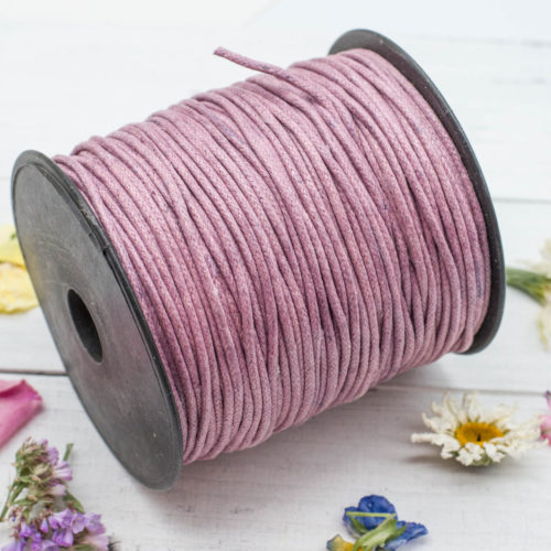 Waxed Jewelry  Cord,  2mm,   100 Meters, Necklace  Cord,  Lavender