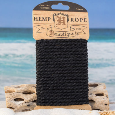 black hemp rope, 4mm craft rope