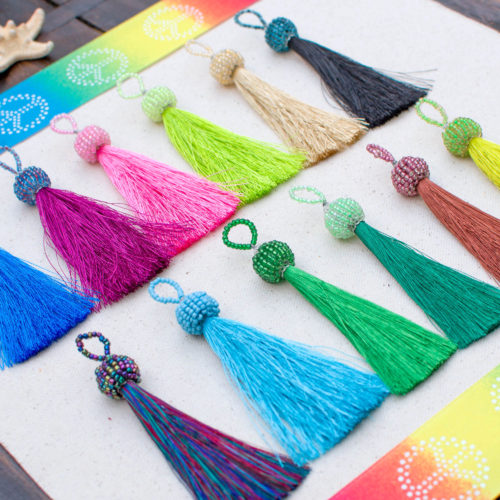 Beaded Tassels, Necklace Tassel, 3 1/4 inch, 12pc Pack, Summer Jewelry,   Tassel, Seed Bead Tassels