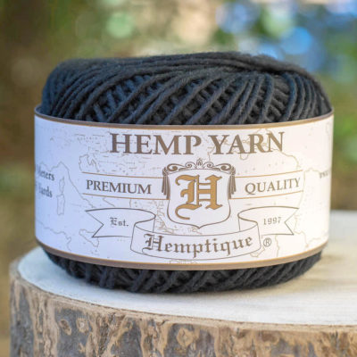 Black Hemp Cotton Yarn,   Natural  Yarn, Knitting Wool, Hemp Fiber
