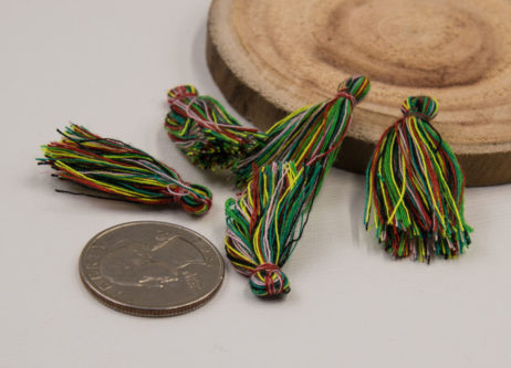 Cotton Jewelry Tassels, 30pcs,   1-11/4 Inch, Mini   Tassels, Rainbow