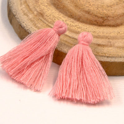 Cotton Tassels, 30pcs,   1-11/4 Inch, Jewelry  Tassels, Peach
