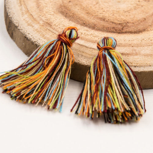 Cotton  Tassels, 30pcs,   1-11/4 Inch, Mini   Tassels, Rainbow