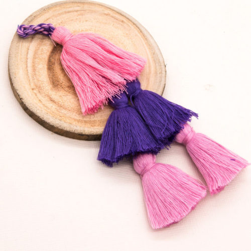 Cotton Tassels, 3pcs+,  41/2 inch,   Purse Tassels   -TA21