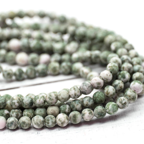Frosted Spot Stone  Gemstone Beads, 6mm, 15 Inch Strand, 62pcs,  Round Stone Beads -P977
