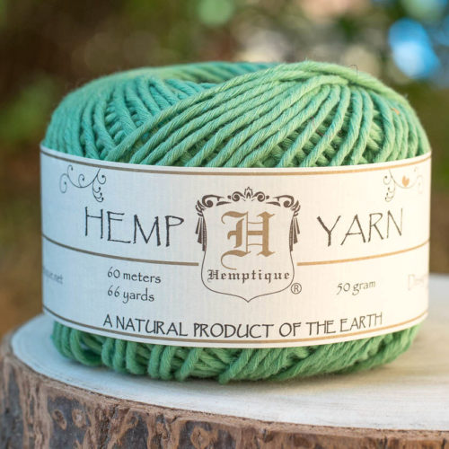 Green Hemp Cotton Yarn,   Natural  Yarn, Knitting Wool, Hemp Fiber