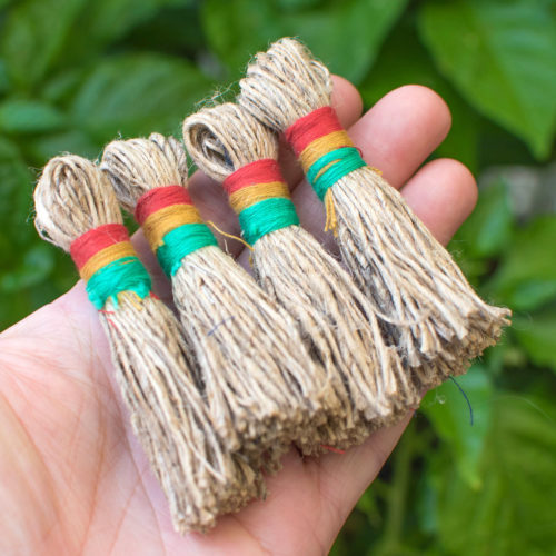 Hemp Tassels, 2pcs,  3 Inch, Natural Tassels,   Hand Crafted Tassels, Jewelry Tassels -T13