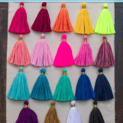 gold jewellery tassels, colored tassels, tassels