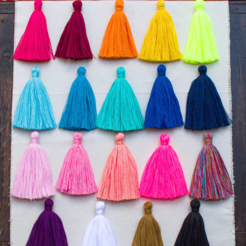 tassels, tassels for jewellery, cotton tassel