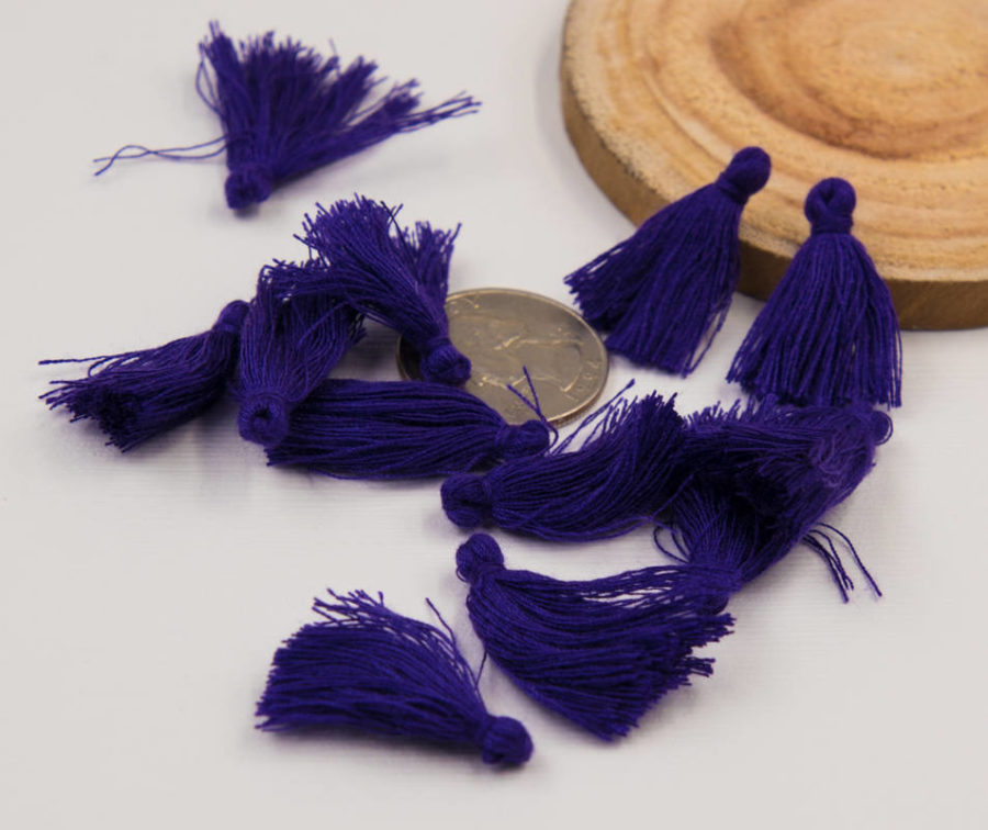 Jewelry Tassels, 30pcs,   1-11/4 Inch, Short   Tassels, Royal Purple