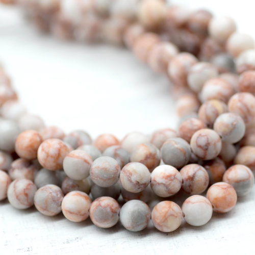 Natural  Gemstone Beads, 8mm, 14 Inch Strand, 46pcs,  Netstone Beads -P986