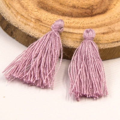 Short Cotton  Tassels, 30pcs,   1-11/4 Inch, Jewelry  Tassels, Lavender