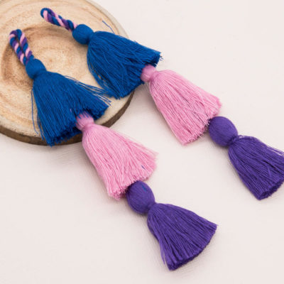 Triple Layer Cotton Tassels, 3pcs+,  41/2 inch,   Purse Tassels, Decorative Tassels -TA21