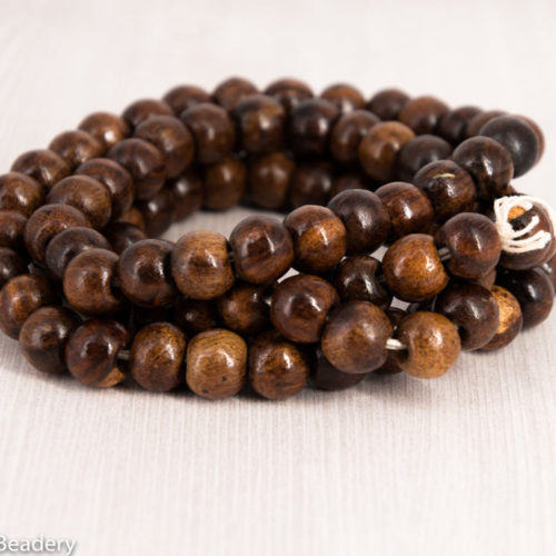 10mm Wood Beads,   100pc, Brown  Beads, 2mm Hole -B393