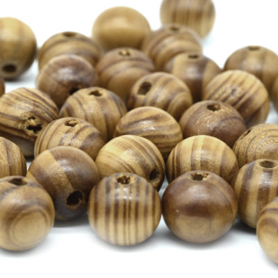 20mm Burly Wood Beads,  50pc, Natural Wood Beads, Large Macrame Beads -B748