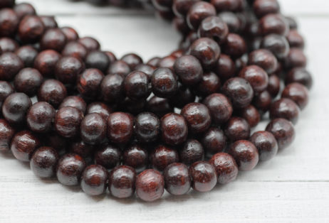 Brown Wood Beads, 98pc Strand, 8mm, Natural Beads,   Wooden Beads -B124