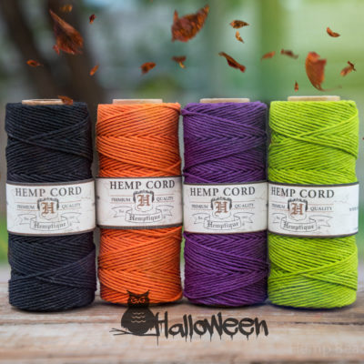 Halloween Hemp Twine, 4 Spools,   1mm Hemp Cord,  Halloween DIY, Craft Cord,  Macrame Cord