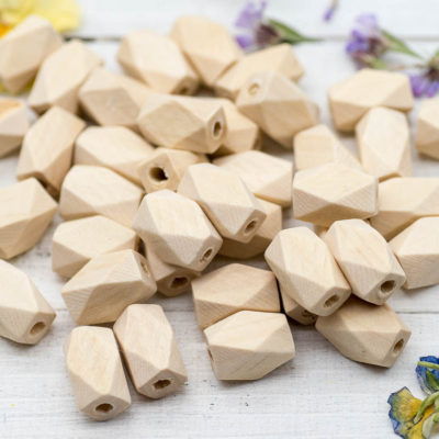 Natural Wood Barrel Beads, 40pcs, 15x10mm,  Wood Beads, 2mm Hole -B1015