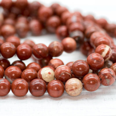Red Jasper  Gemstone Beads, 8mm, 15 Inch Strand, 48pcs,  Round Gemstone Beads -P950