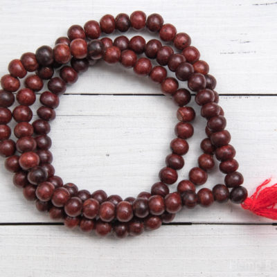 Red Wood Beads, 10mm Beads,  108 Beads,   Wooden Yoga  Beads, Prayer Beads