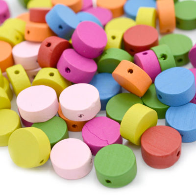 Wooden Disc Beads,   100 pcs, 13x6mm, 1 mm Hole,  Wood  Beads -B527