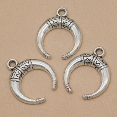 crescent horn charms
