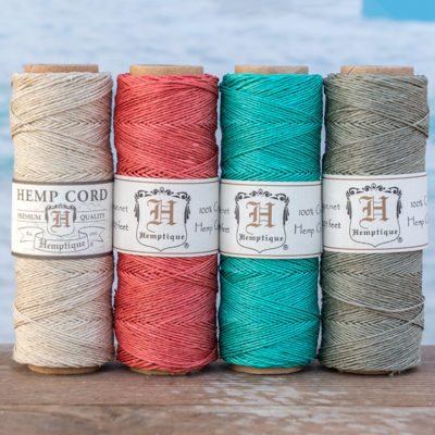 hemp twine, 4 spool pack, hempbeadery