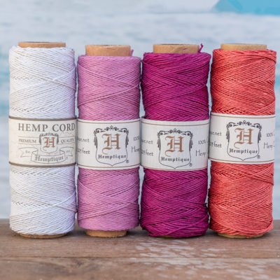 hemp cord spool, hemp string, pink twine