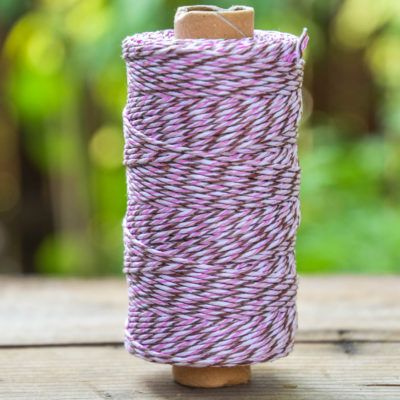 Bakers Twine, 1mm, 405 Feet,  Hemp  Bakers Twine,   Pink Twine,   Craft Twine, Gift Wrap, Colored Hemp Twine  -T103