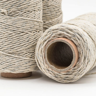 silver hemp metallic twine
