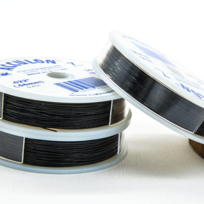 Black nylon Coated  Wire, 0.56mm, Beading Wire -W4
