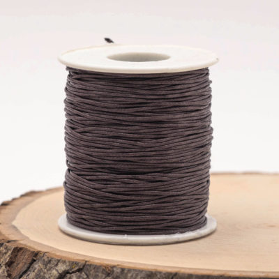 Brown Wax  Cotton Cord, 1mm Cord, 100 Meter Spool,  Jewellery Cord, Macrame Cord, Bracelet Cord -JC09