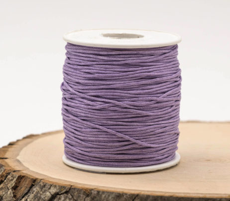 Lavender bead Cord, wax Cotton Cord  1mm, 75 meter Spool, Jewelry Cord, waxed Cotton