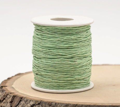 Mint Green Macrame Cord,   Waxed Cotton,   1mm, 75 meter Spool, Knotting  Cord