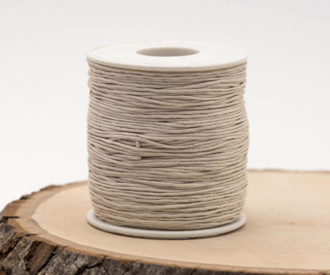 Natural Waxed Cotton Cord  1mm, 75 meter Spool, Jewelry Cord, Bead Cord