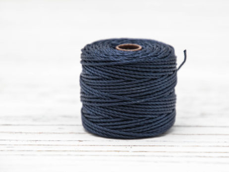 Navy  Jewelry Cord, Macrame Cord, .9mm, 35 Yard Spool,   S Lon  Tex 400, Nylon Bead   Cord