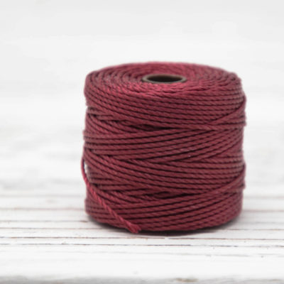 Red Bead Cord, Nylon Cord, .9mm, 35 Yard Spool,   S Lon  Tex 400,  Cord For Jewelry Making